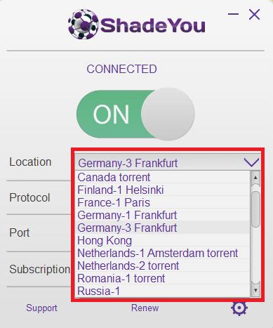 ShadeYou Servers Locations