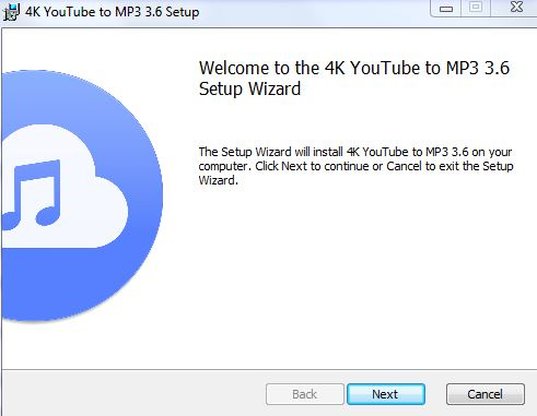 4K Youtube to MP3 Setup Wizard